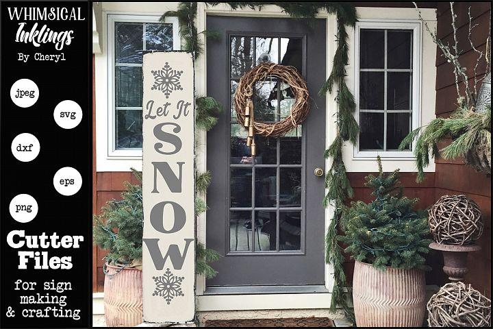 Let It Snow-Vertical SVG