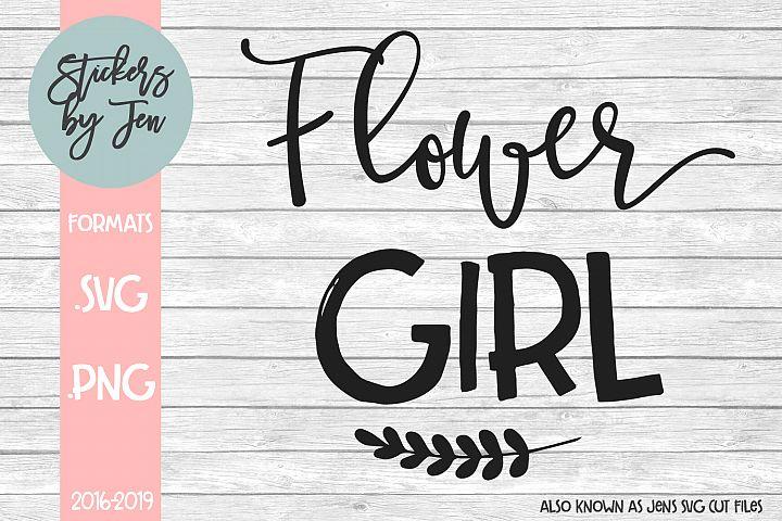 Flower Girl SVG Cut File