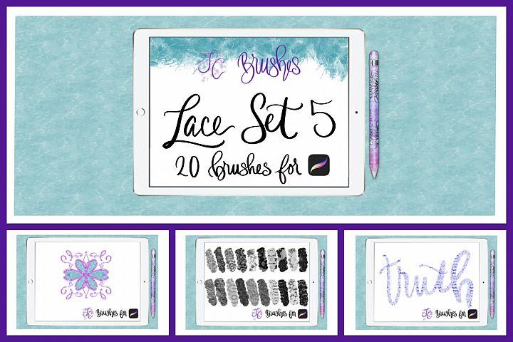 FC-Lace Brush Set 5 for PROCREATE