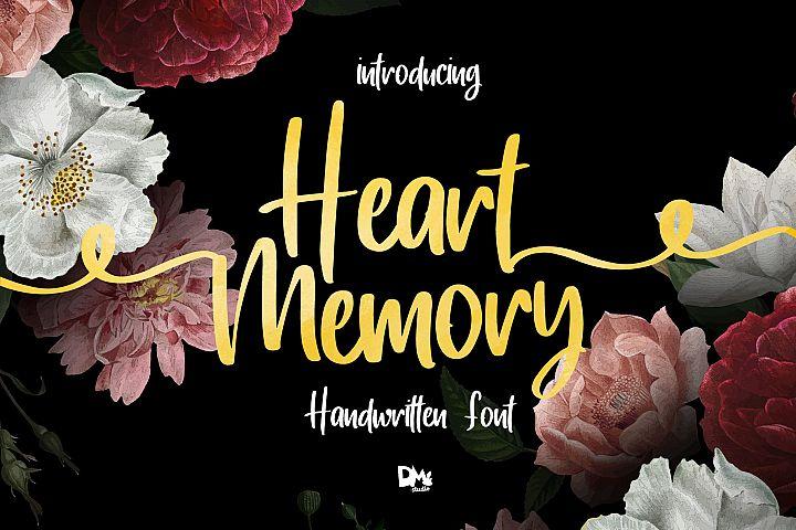 Heart Memory - Handwritten Font