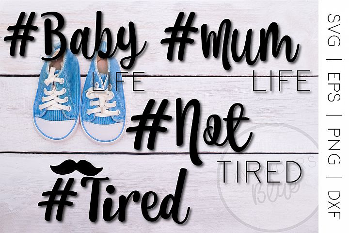 #Tired Life Bundle - SVG, EPS, PNG t-shirt designs
