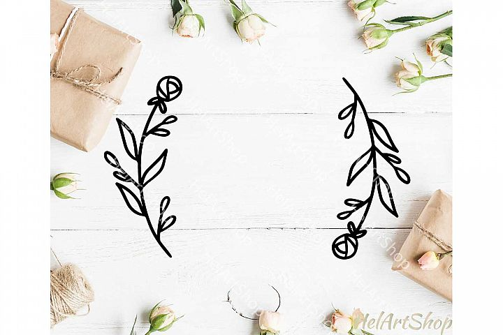 Floral wreath svg, Border svg
