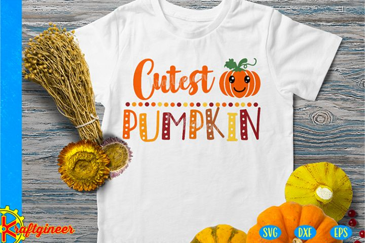 Cutest Pumpkin SVG | Fall SVG