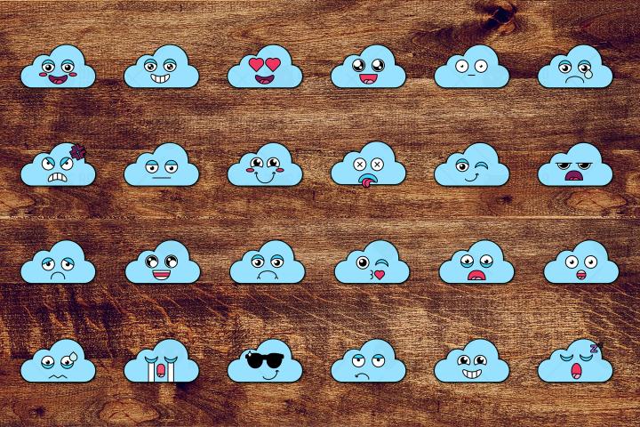 Nice Cloud Smiles Set
