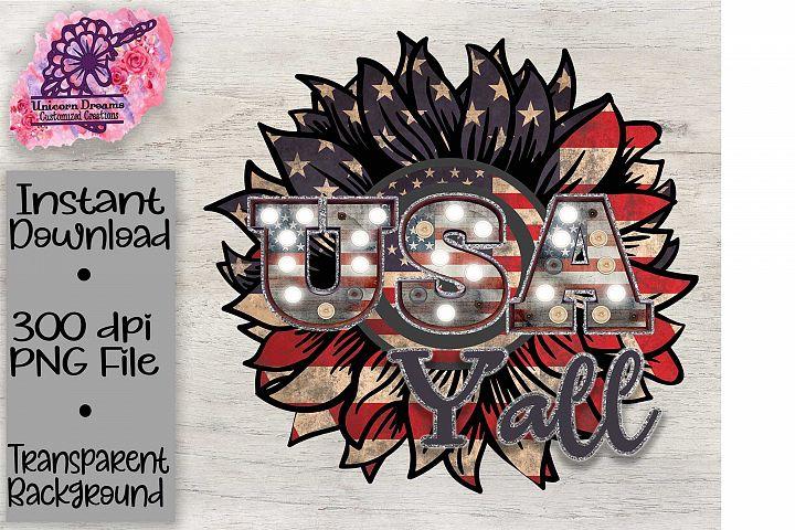 USA Yall Sunflower