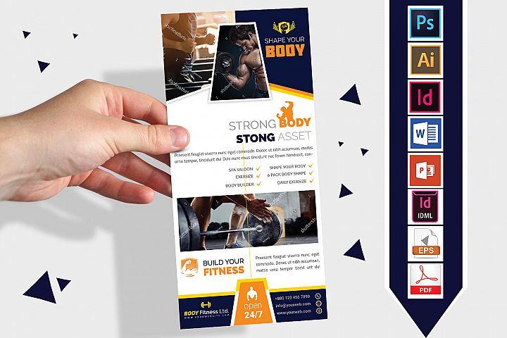 Rack Card   Gym & Fitness DL Flyer Vol-01
