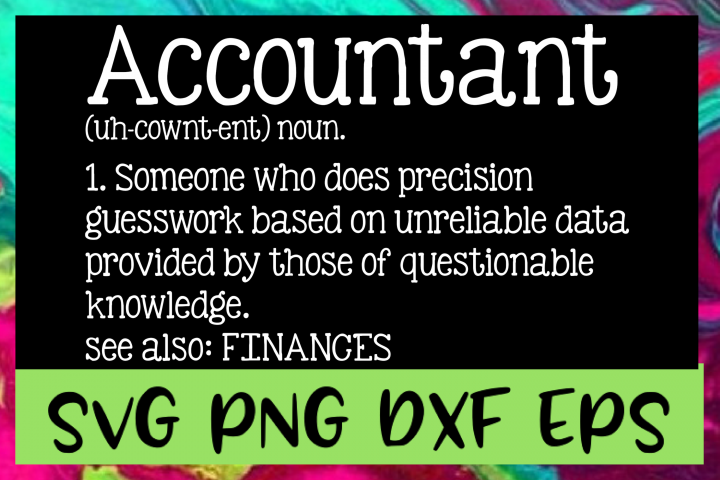 Accountant Definition SVG PNG DXF & EPS Design Files