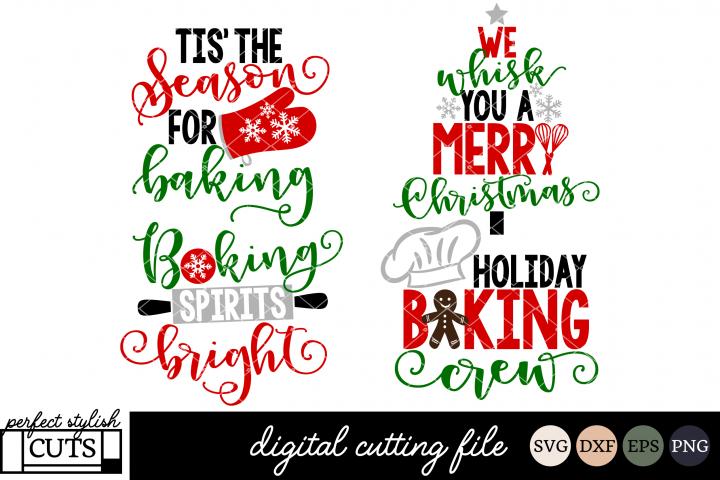 Christmas Baking SVG Bundle - Christmas SVG Files