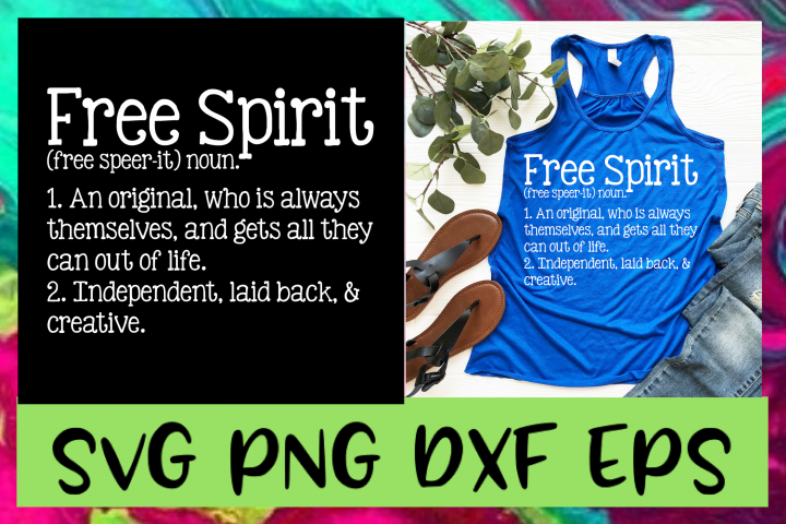 Free Spirit Definition SVG PNG DXF & EPS Design Files