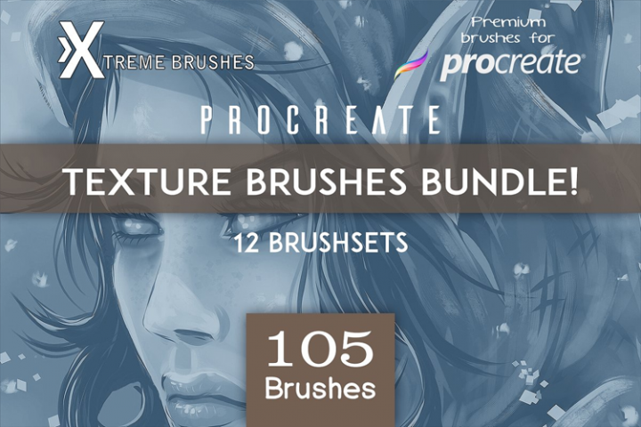 Procreate Textured Brushes BUNDLE!