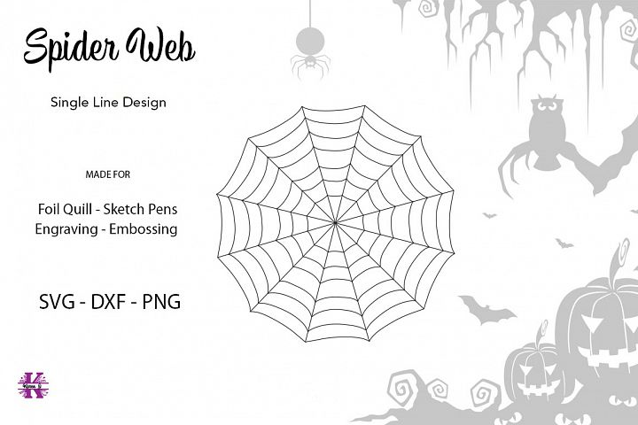 Spider Web for Foil Quill|Single Line Design