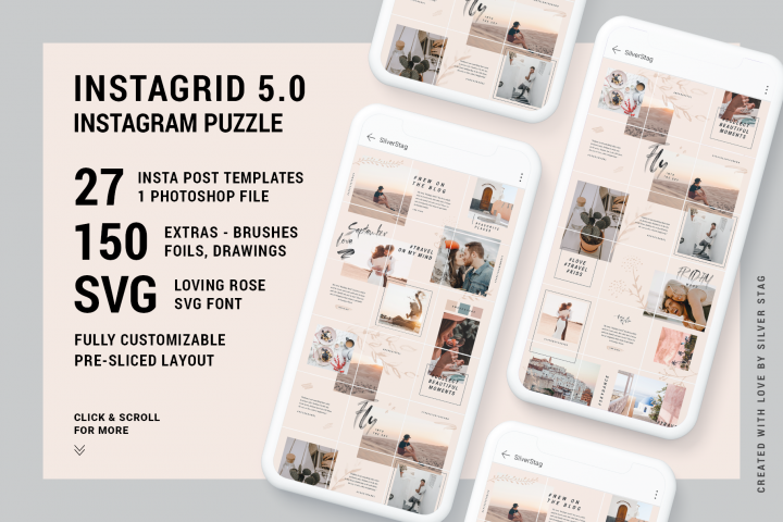 InstaGrid 5.0 - Creative & Modern Instagram Puzzle Template
