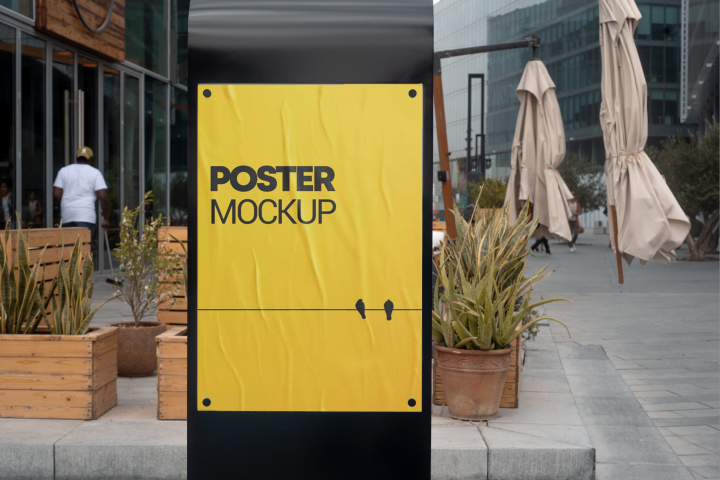 Poster Mockup - Advertising Signage