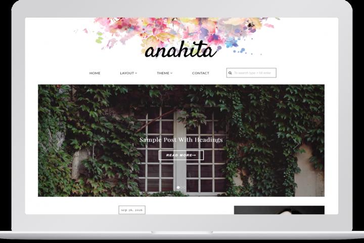 Feminine responsive wordpress theme - Anahita