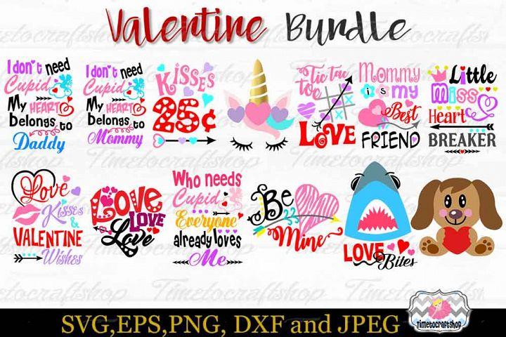Valentine Bundle, Hug Me, Cupid, Kisses,