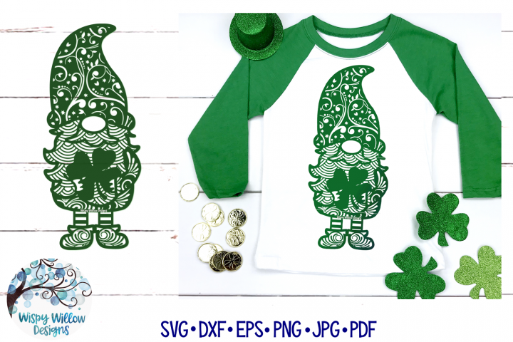 St. Patricks Day Gnome Zentangle SVG | Gnome Mandala SVG