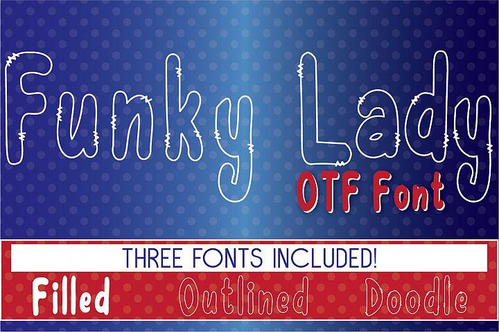 Funky Lady OTF Font Set