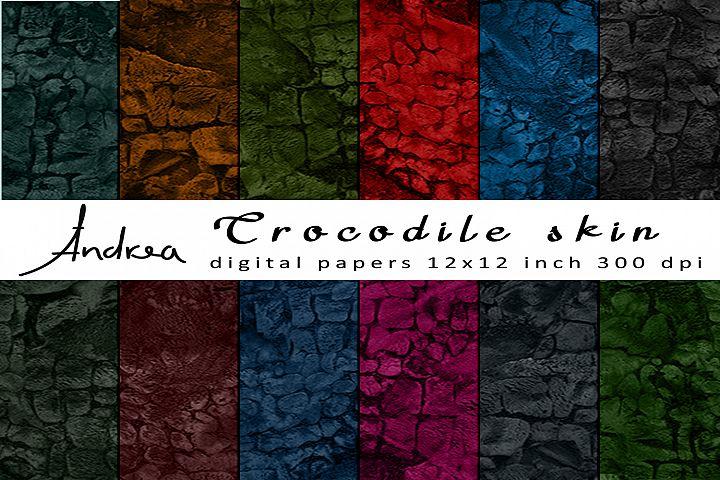 Crocodile skin digital papers