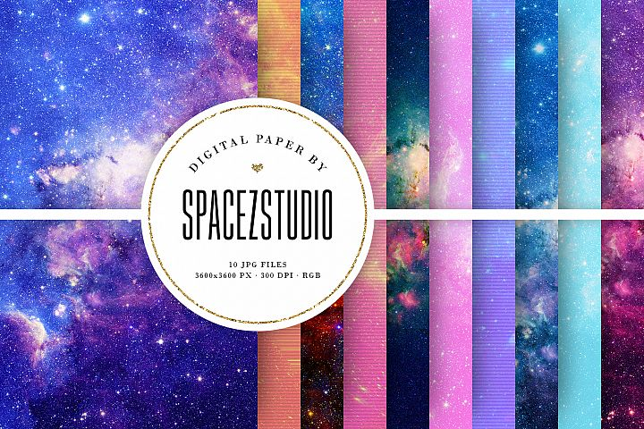 Colorful Space Backgrounds