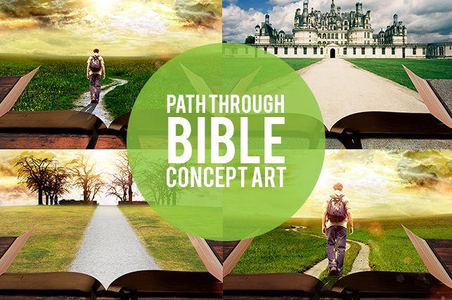 Path Through Bible Background Art