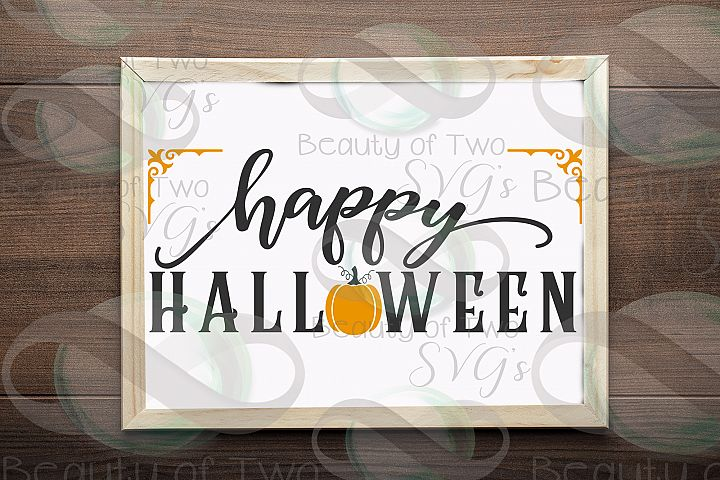 Happy Halloween svg sign design, Halloween svg, Pumpkin svg