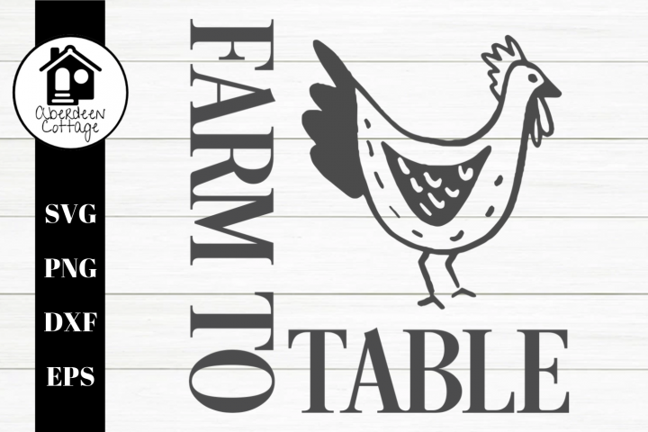 Farm To Table Boho Rooster SVG