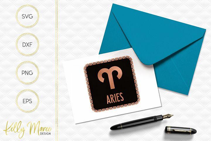 Aries Zodiac SVG File