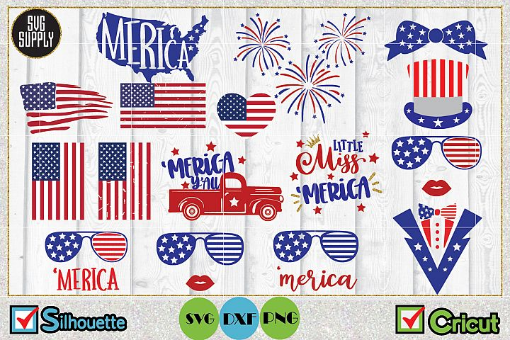 4th of July Independence Day SVG Cut File