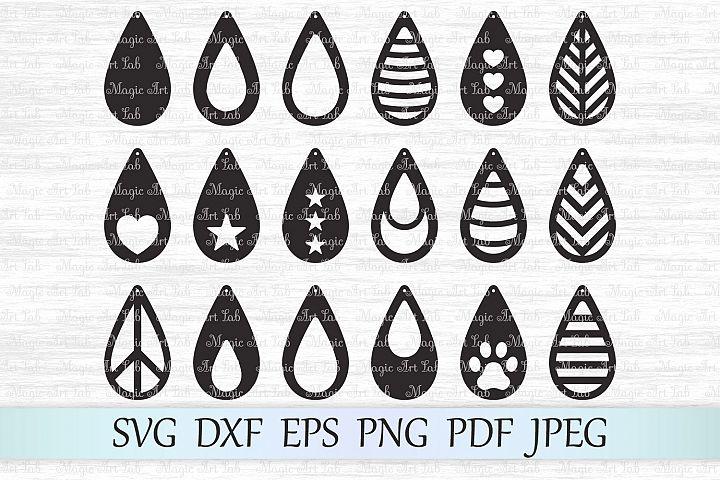 Earrings svg, Tear drop earrings svg, Earrings bundle svg