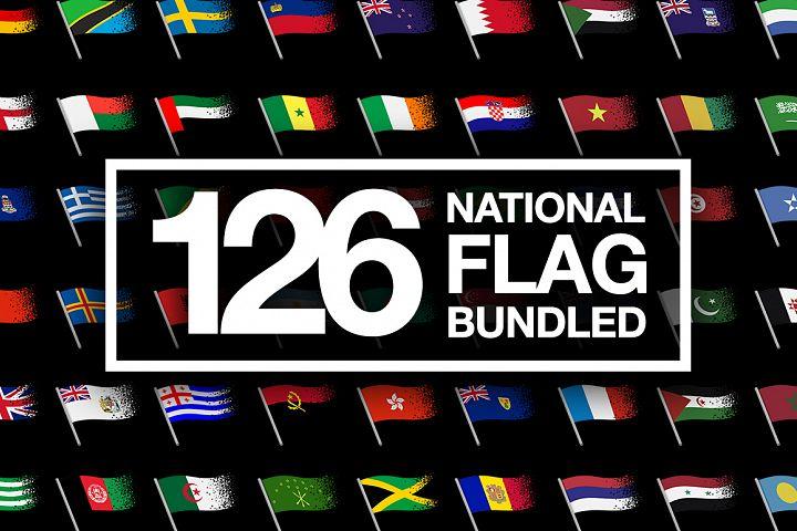 BUNDLE - National Flag Vector AI and CDR Sparkle