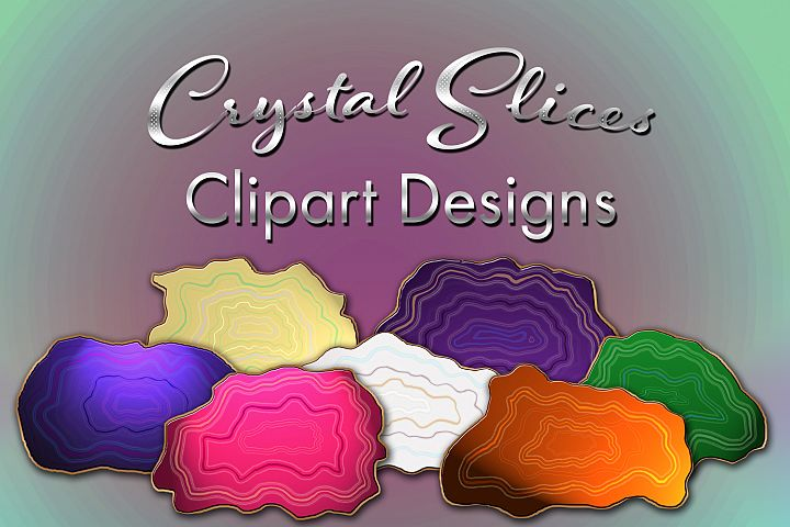 Crystal Slices Clipart Designs