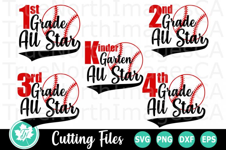 School Baseball All Star- A School SVG Bundle
