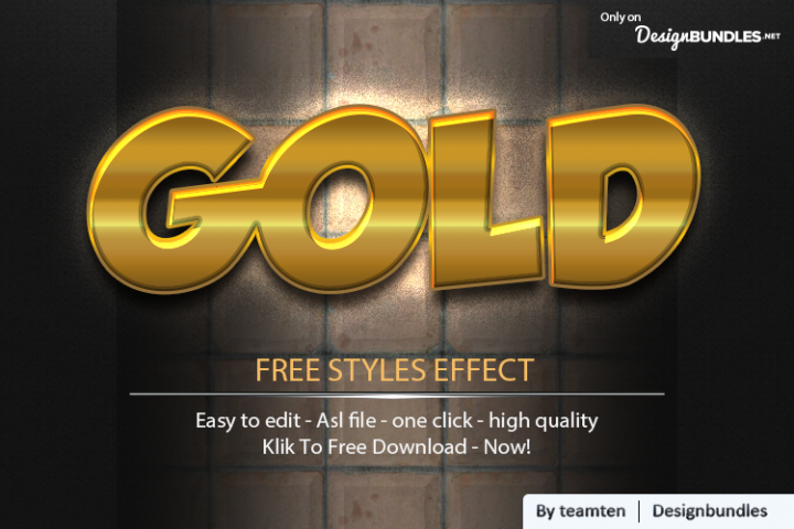 5 Gold Clean Effect Styles