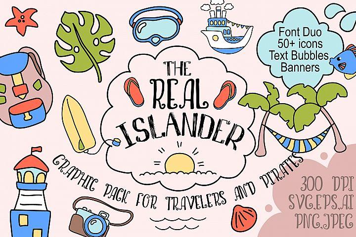 Real Islander - Tropical Summer Travel Vector Design Pack