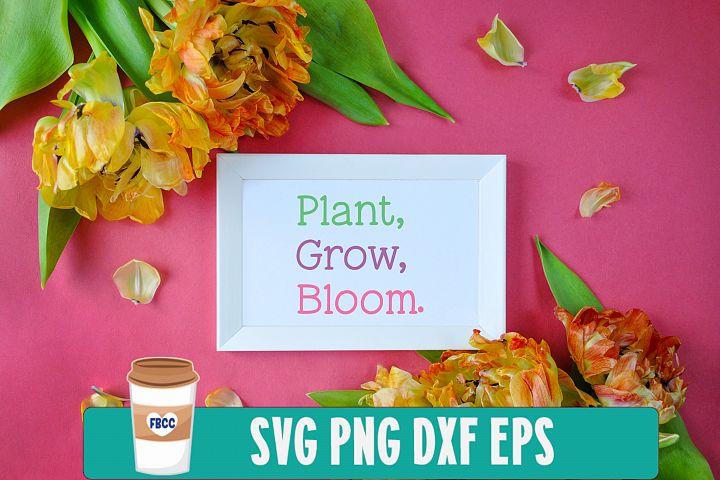 Plant Grow Bloom SVG