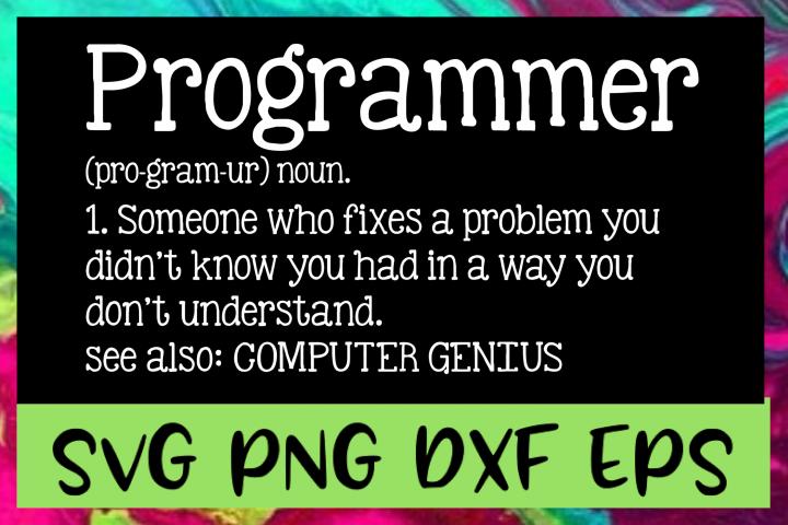 Programmer Definition SVG PNG DXF & EPS Design Files