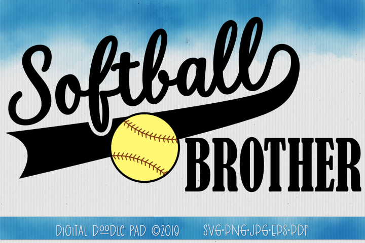 Softball Brother SVG by Digital Doodle Pad