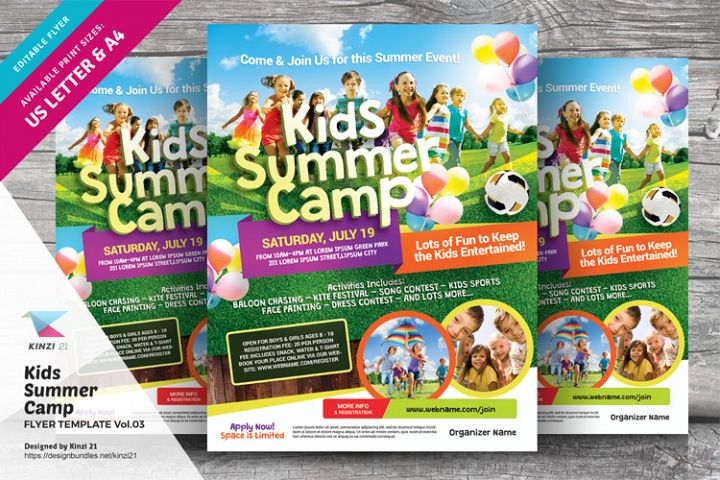 Kids Summer Camp Flyer Template Vol.03