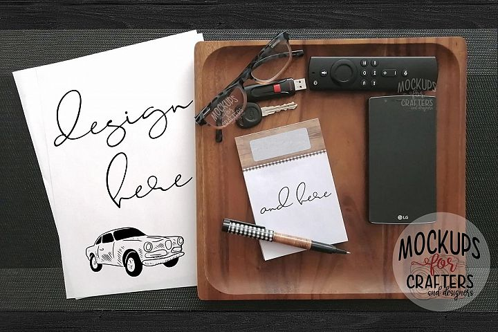 Stationery, Paper, Notepad Mock-Up