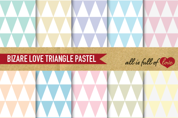 Triangles Pattern Digital Paper Geometric Backgrounds Pastel