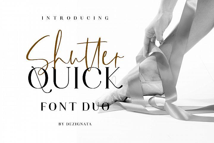 Shutter Quick Font Duo