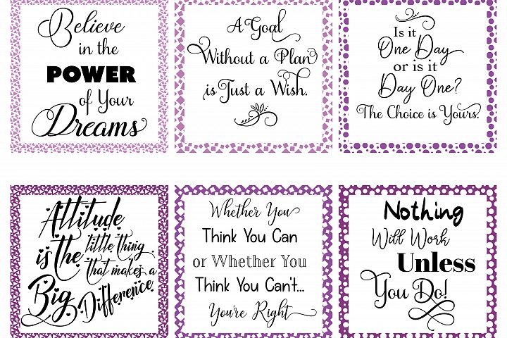 Social Media Graphics - Set 1 Purple