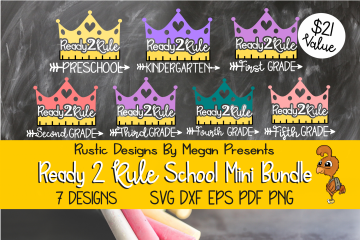 Ready To Rule Back To School SVG Mini Bundle