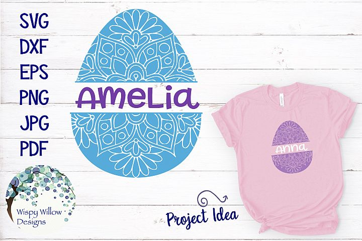Personalized Name Easter Egg Mandala SVG
