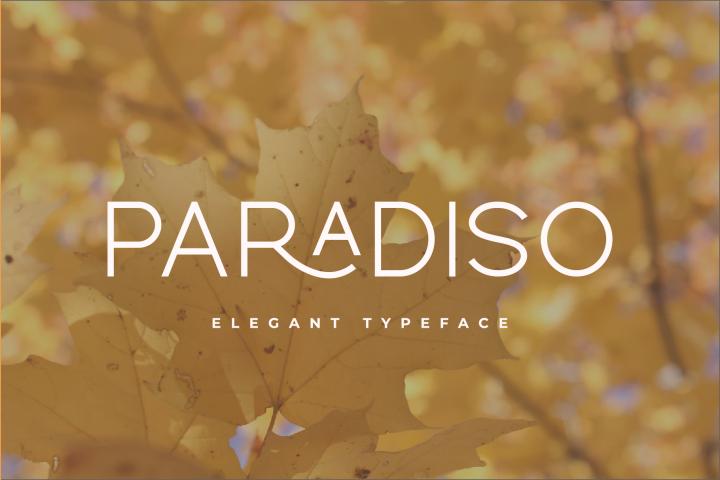 Paradiso Typeface