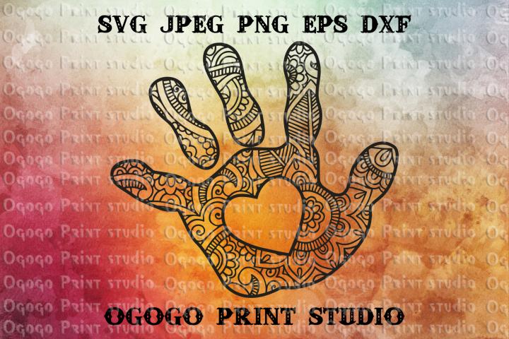 Baby Hand SVG, Mandala svg, Mothers day Zentangle SVG