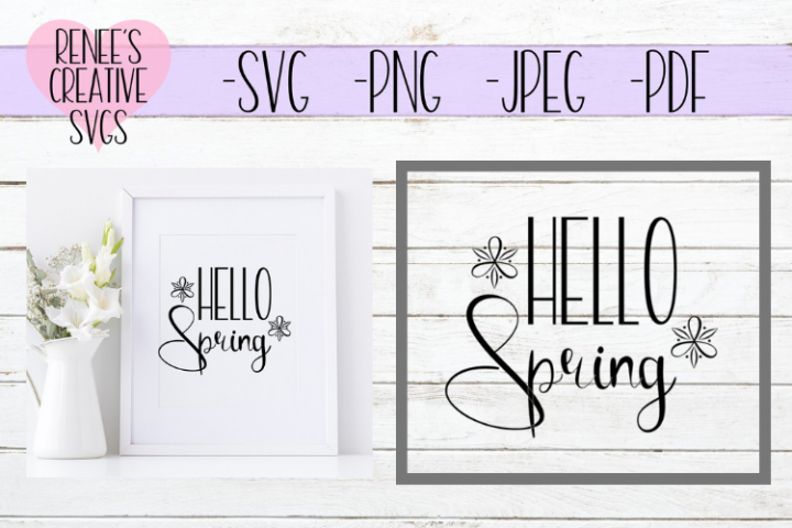 Hello Spring | Spring | SVG Cutting File