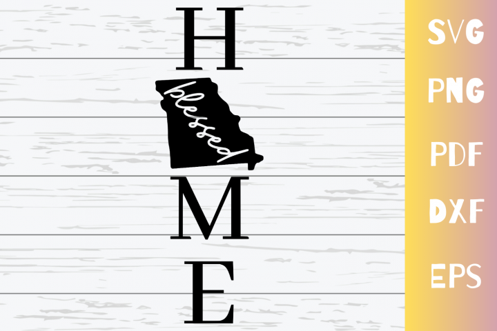Missouri Blessed Home SVG Cut File|Instant Download