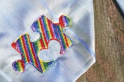 Mini Heart Puzzle Piece Embroidery Design