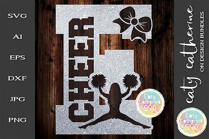Letter E Cheerleading Monogram Letters SVG Cut File